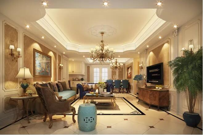 北京家庭装修:家庭中客厅吊顶的装修需要注意什么?