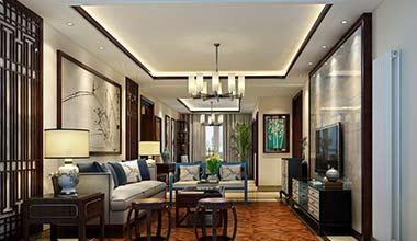 北京国防大学欧式古典、新中式别墅140平装修效果图