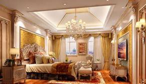 北京首创国际半岛别墅232平欧式古典、新古典装修效果图