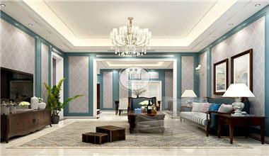 鲁能七号院260平米古典欧式风格别墅装修效果图