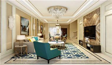 枫丹壹号360平米新中式风格装修设计效果图