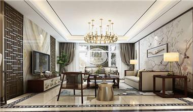 紫禁壹号院293平米新中式风格别墅装修设计方案