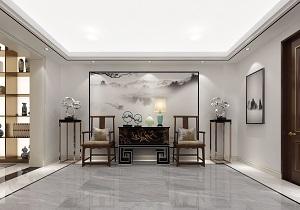 北京金茂逸墅别墅新中式轻奢混搭420平装修效果图