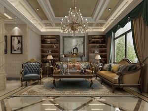 北京首开天誉450平欧式古典别墅装修效果图