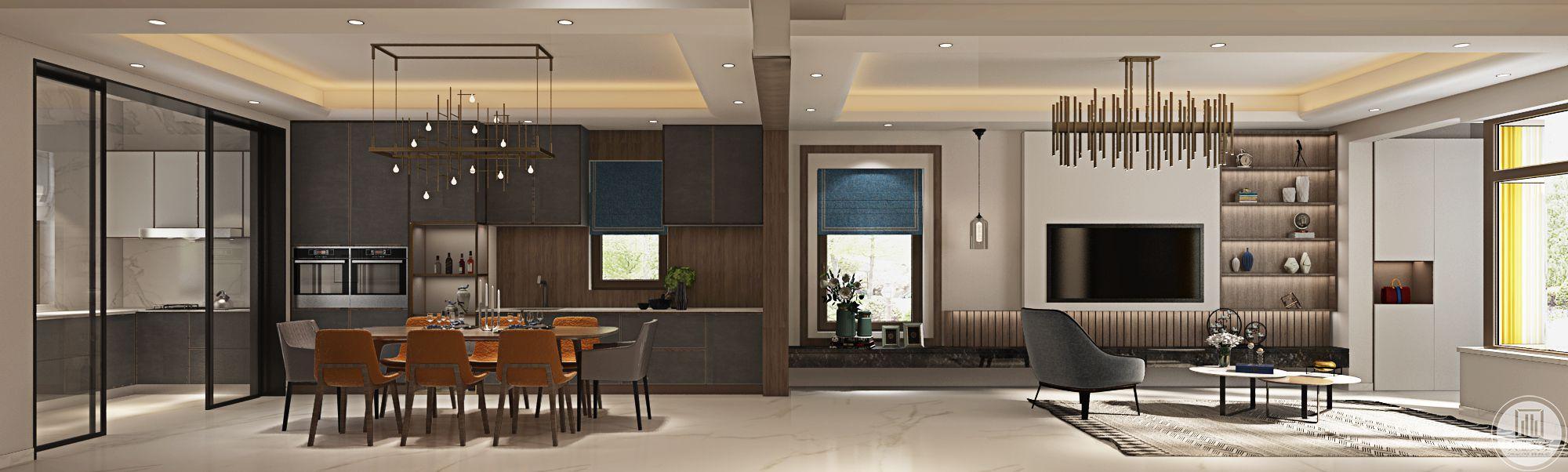 整体装修选择开放式的风格,拉升了空间感。