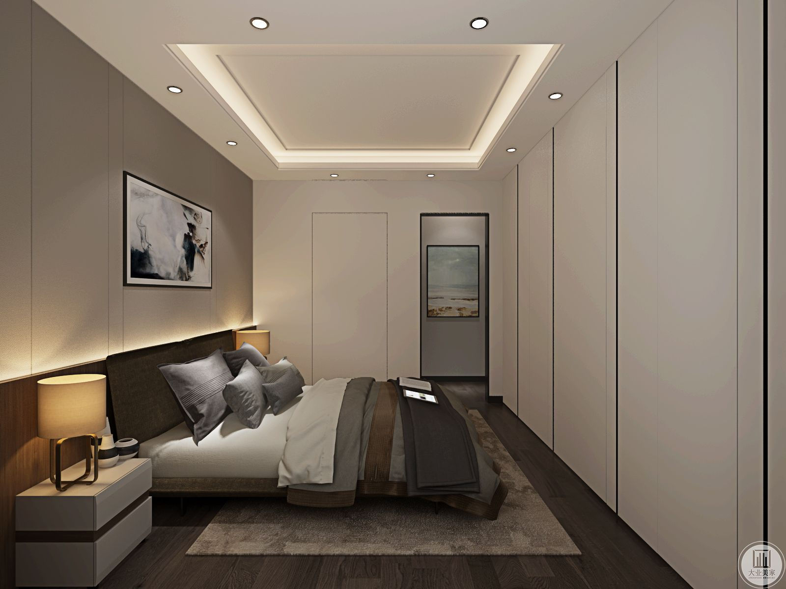 卧室对材料的质感要求很高,简约的设计达到了以简盛繁的效果