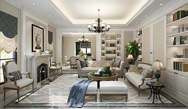 北京上城郡别墅260平欧式古典装修效果图