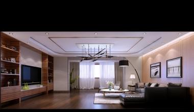 北京丽园180平现代简约三室装修效果图