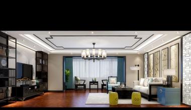 北京丽园400平新中式装修效果图