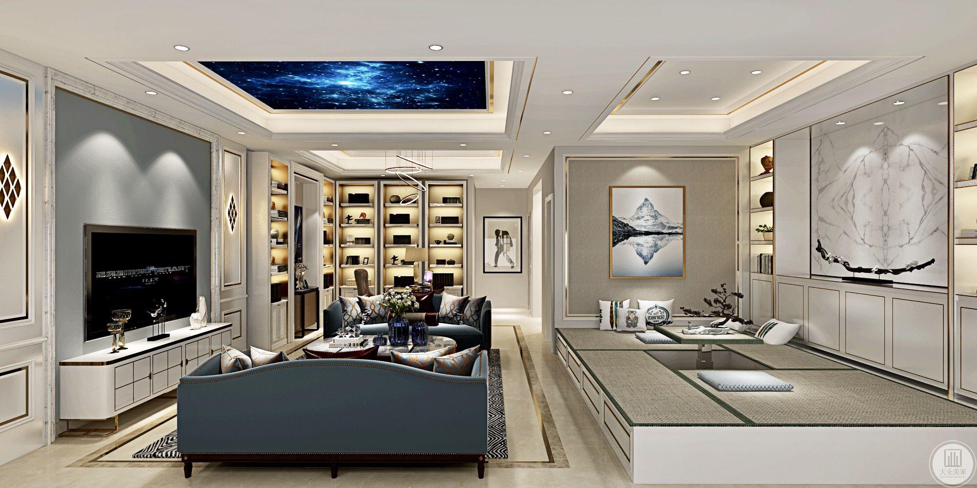 整体金属边条、米黄理石、灰咖在暖暖的房间和谐的结合。