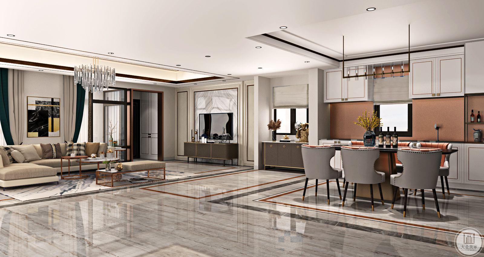 客厅简洁朴素的设计,外表之下折射出一种隐藏的贵族气质。