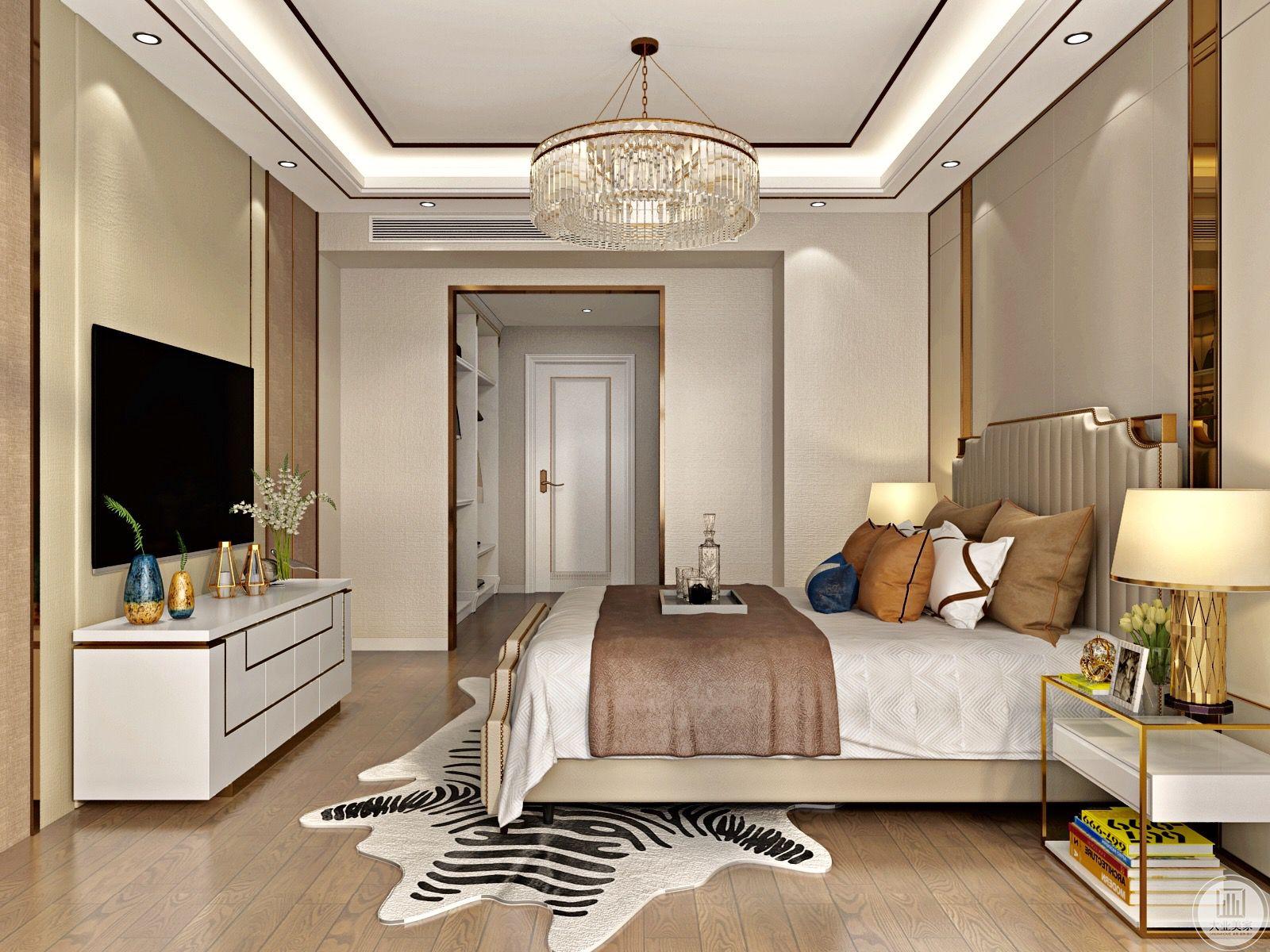 卧室布置较为温馨,作为主人的私密空间,主要功能性为主。