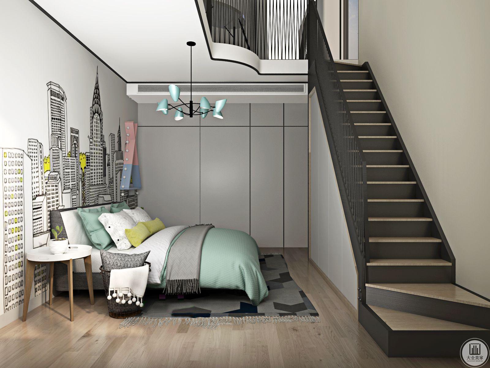 欧式的居室有的不只是奢华大气,更多的是惬意和浪漫。经过完美的点缀,精雕细镂的细节处理,带给家人不尽的舒服触感并添加楼梯更好的节省储物空间。