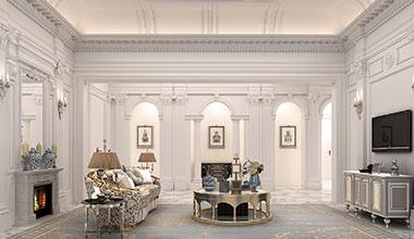 北京圣德花园别墅1500平新古典装修效果图