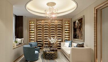 北京通用国际时代公寓现代轻奢320平装修效果图