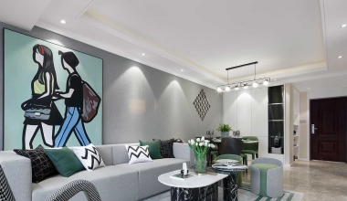 北京树村丽景苑三室现代简约95平装修效果图