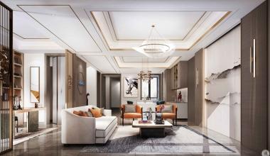 北京禧瑞山-260平别墅轻奢新中式装修效果图