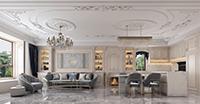 北京世华龙樾140平四室法式新古典装修效果图