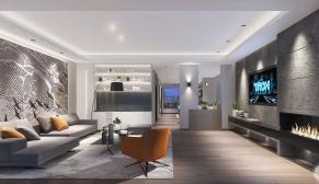 北京新世界丽樽别墅480平别墅现代简约装修效果图