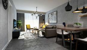 北京满庭芳嘉园现代简约、简欧混搭88平三室装修效果图
