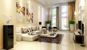 北京东方太阳城250平三室现代简约装修效果图