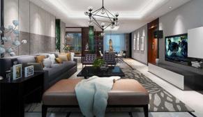 北京世茂维拉240平别墅现代简约装修效果图