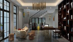 北京远洋傲北别墅350平欧式古典、新中式、混搭装修效果图
