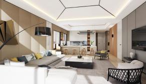 北京檀香府三室145平现代简约、简欧装修效果图