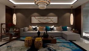 北京昌盛园四室现代简约、新中式140平装修效果图