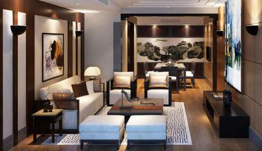 北京海棠湾230平新中式三室装修效果图