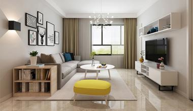 北京满庭芳嘉园130平三室现代简约装修效果图