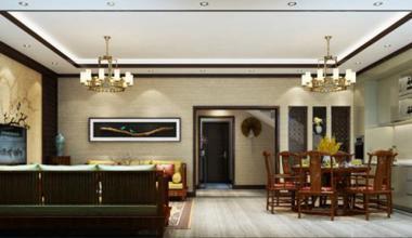 北京旭辉御锦欧式古典、新中式、简欧别墅290平装修效果图