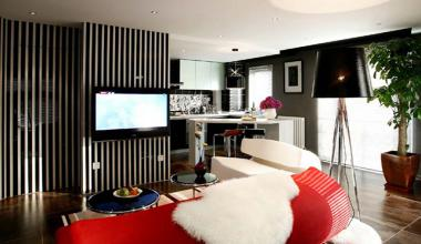 北京龙熙旭辉6号院三室现代简约130平装修效果图