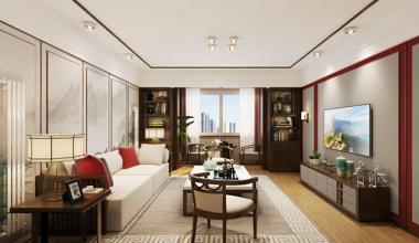 北京新街口欧式古典、新中式三室130平装修效果图