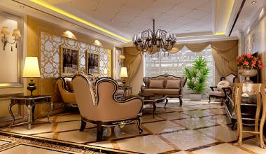 北京万成华府欧式古典、轻奢、新古典四室装修效果图
